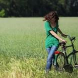 In bici…